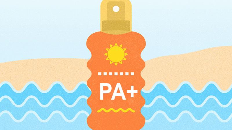 PA biểu thị cho khả năng chống tia UVA của kem chống nắng