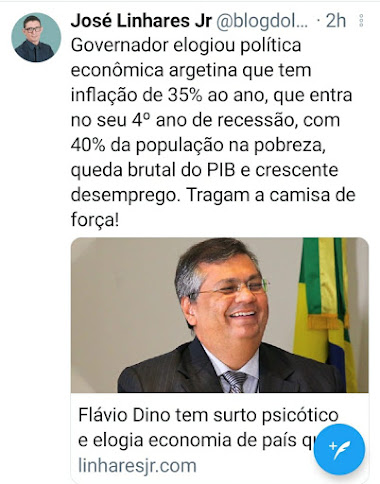 Flávio Dino já já vai começar a jogar pedras em avião!!!