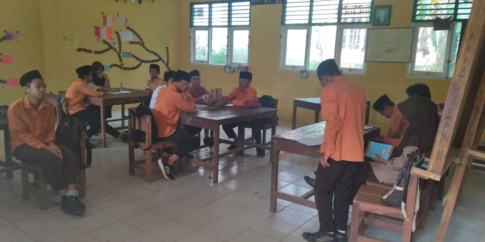 Kepala MTs Nurul Huda Laksanakan Supervisi Kelas Tahun Pelajaran 2018-2019