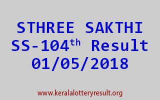 STHREE SAKTHI Lottery SS 104 Result 01-05-2018