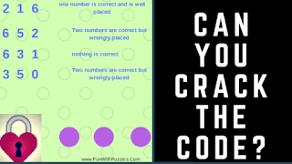 It contains the Crack the Code Brainteasers in which your challenge is to find the 3 digit code which will open the lock