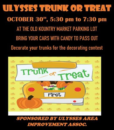 10-30 Ulysses Trunk or Treat