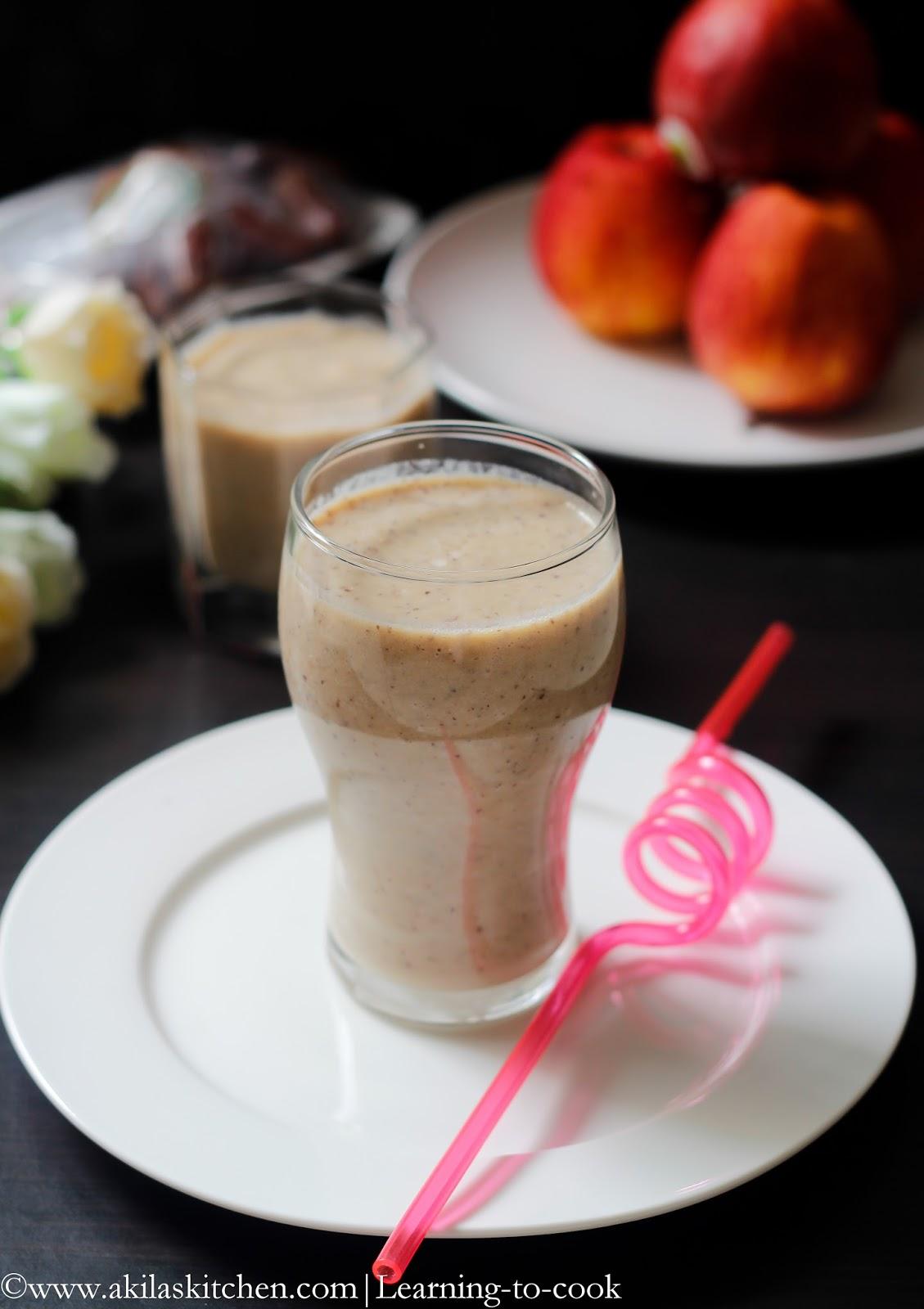 Learningtocook Apple and Dates Milkshake  Milkshake