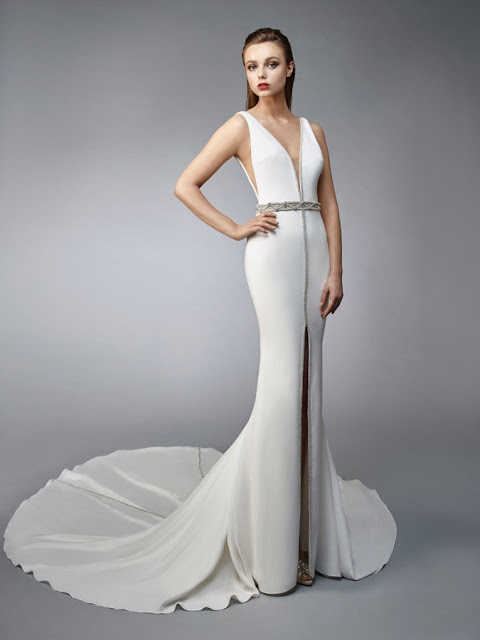 K'Mich Weddings - wedding planning - wedding dresses - grecian white side cutouts with beaded blet - enzoani