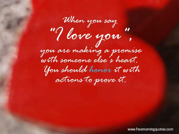 The Best Love Quotes | 42 Heart Touching Love Promise Quotes Freshmorningquotes