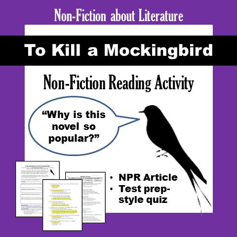 To Kill a Mockingbird Non-Fiction Reading Activity