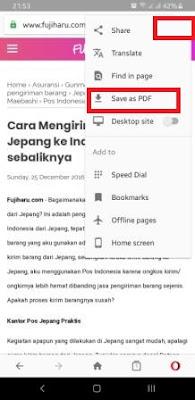 Cara menyimpan halaman web ke PDF