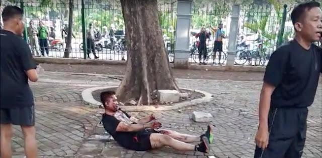 Ledakan Monas: 'Fajar Kena, Seram'