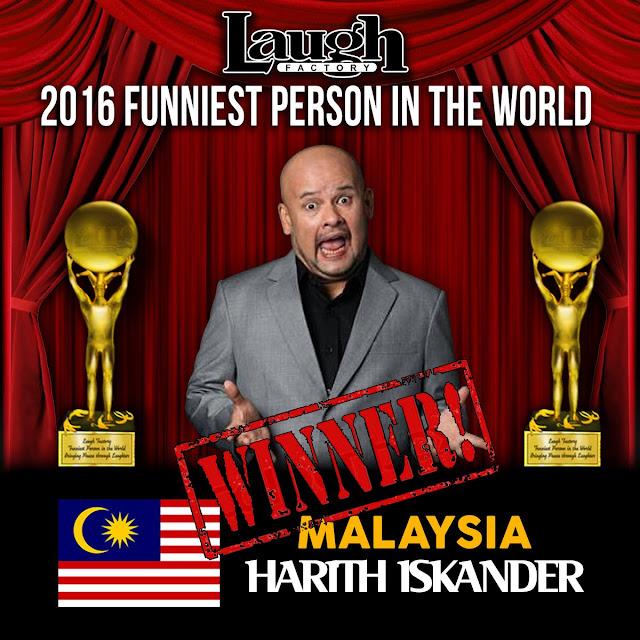 Harith Iskander juara lawak dunia, bawa pulang hadiah AS$100,000
