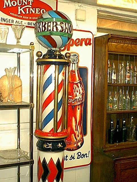 Barber Girl Photos Antique Barber Poles