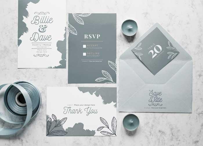 Top View Wedding Cards Envelope