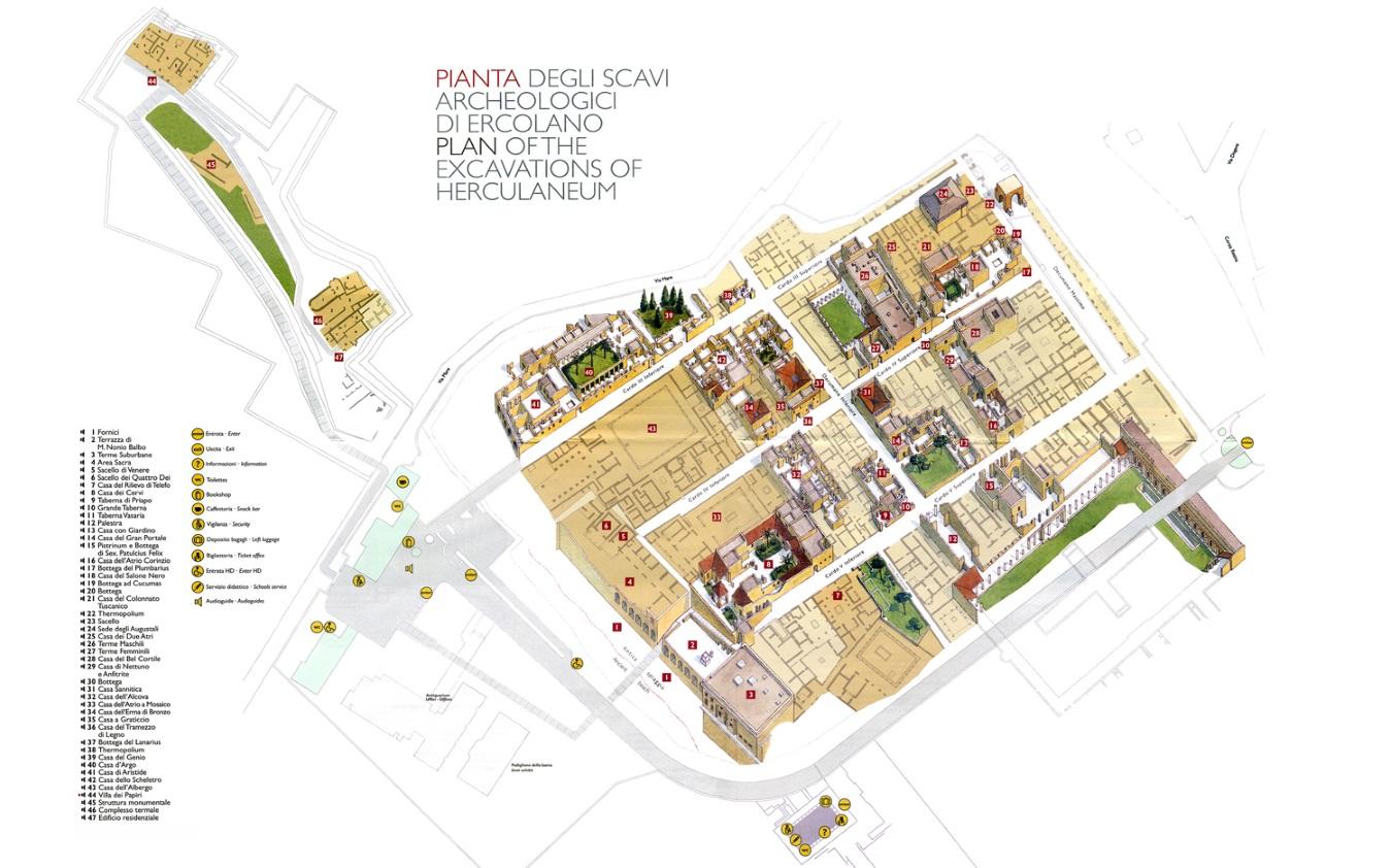 Scavi di pompei ed ercolano sconti e convenzioni for Design della mappa di casa