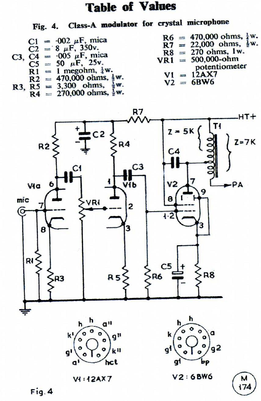 power supply circuit together with am radio transmitter circuit