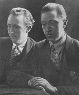 Osbert Sitwell (right), pictured with his younger brother, Sacheverell, a writer and critic