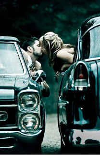 kissing in a traffic jam