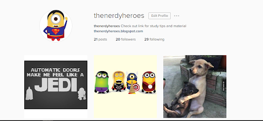 The Nerdy Heroes Instagram