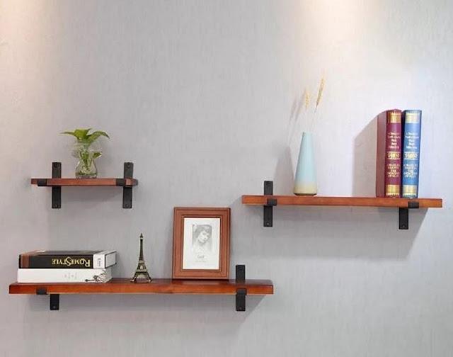 Rak Dinding Minimalis Kayu