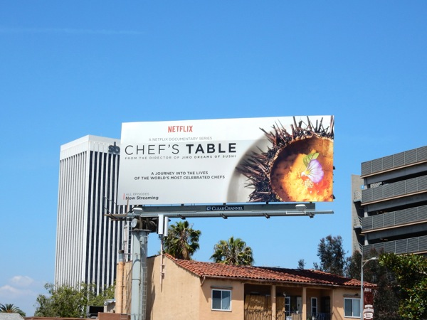 Chefs Table Netflix series billboard