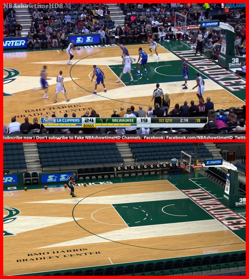 Real Life vs Modded 2K Court