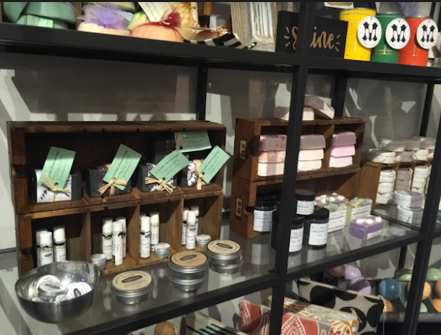 Handcrafted soaps, bath bombs and more
