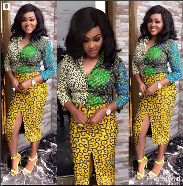 Mercy Aigbe is #AnkaraGoals in her chic outfit