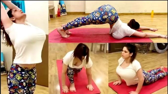 सोशल मीडिया पर वायरल हुई ज़रीन खान की हॉट तस्वीरें, देखें बोल्ड फिगर. Zareen Khan's Hot Yoga