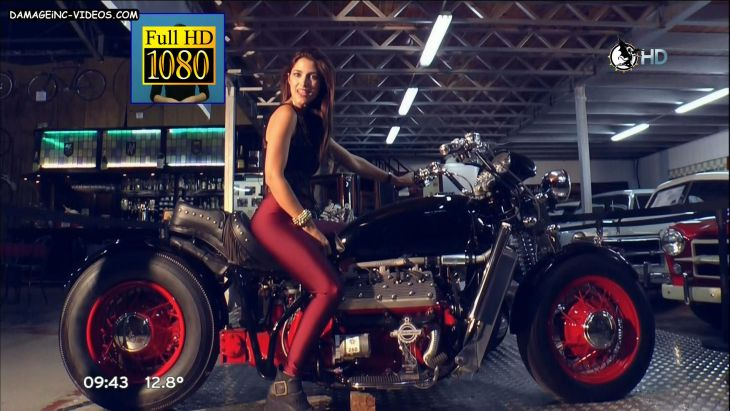 Alejandra Martinez hot leggings on a motorcycle Damageinc Videos HD