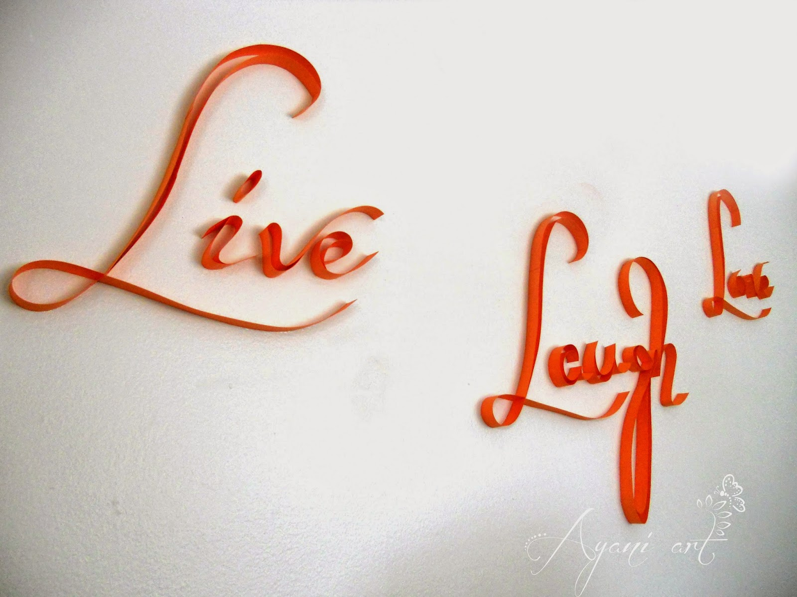 Ayani art: Quilling wall typography