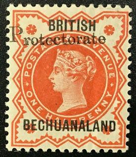 Bechuanaland Protectorate overprint Victoria