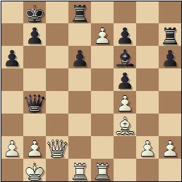 Partida de ajedrez Francisco José Pérez - Arturo Pomar, posición después de 25.e7!