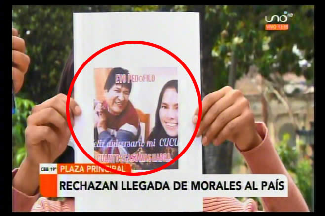 Cochabamba: Mujeres no permitirán que Evo Morales regrese campante pese a denuncias por presuntos delitos
