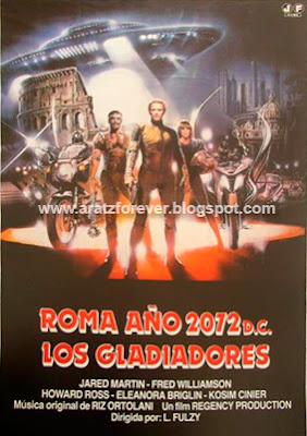 Roma, año 2072 D.C.: los gladiadores, lucio fulci, fred williamson