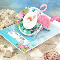 Flamingo Slider Shaker Pop-Up Card