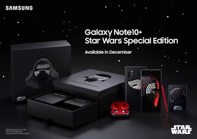 Samsung تعلن عن نسخة خاصة من هاتفها Galaxy Note 10 + لمحبي سلسلة Star Wars