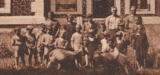 carte postale ancienne 1930 château corny eure  détail