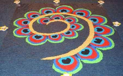 Small Rangoli Design with Dots