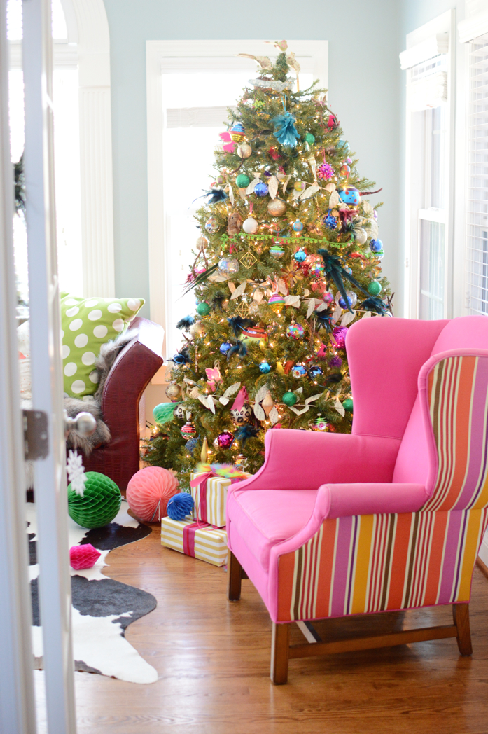Colorful Holiday Decor and Tree