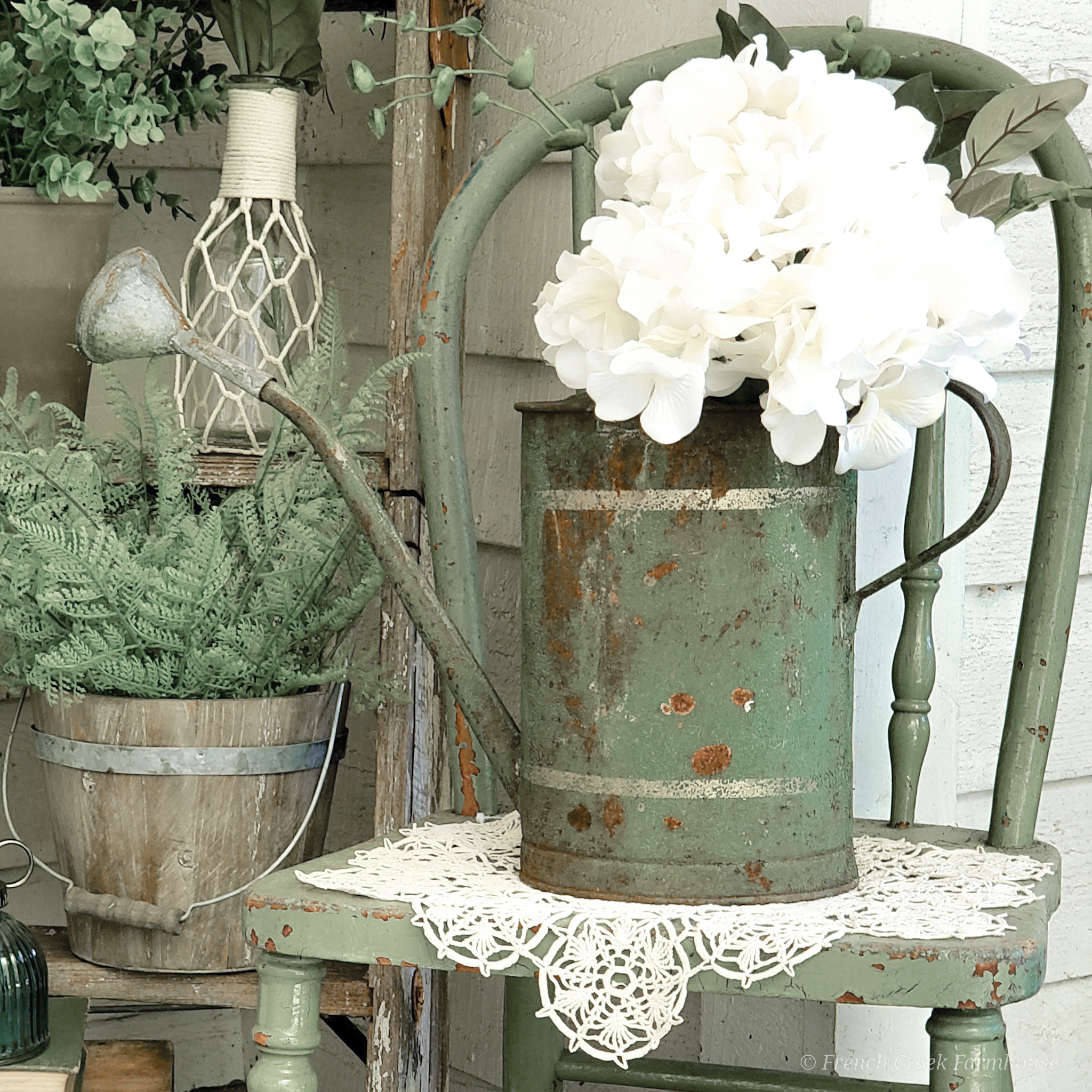 Come along for our spring home tour as we share our vintage French inspired front porch