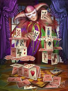 Обучение магии, заклинания с игральными картами