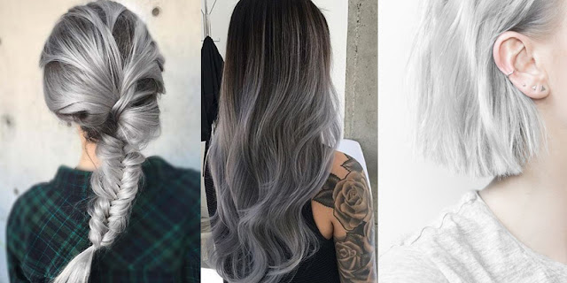 Silver grey hair inspiration