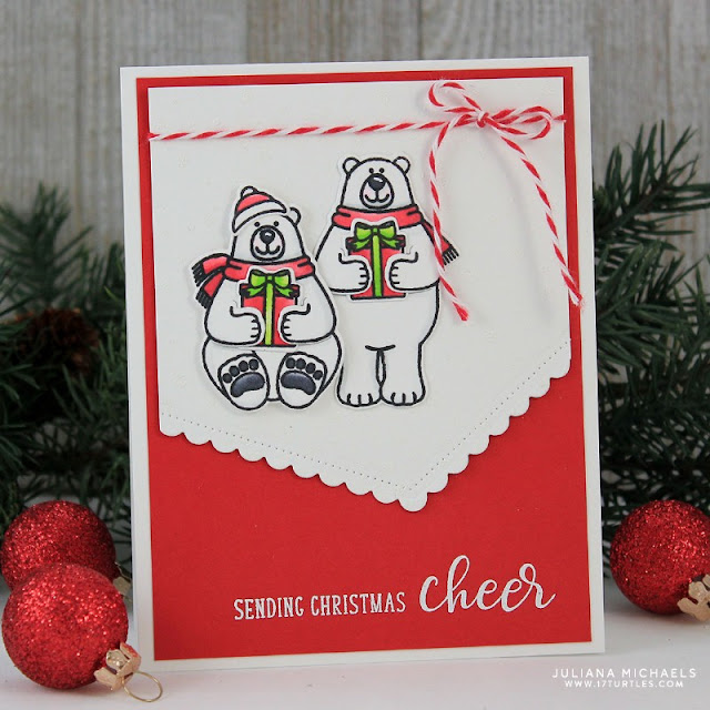Sunny Studio Stamps: Sunny Saturday Playful Polar Bears Customer Card Share by Juliana Michaels