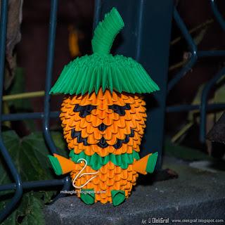 314. Pan Dynia / 3d origami Mr. Pumpkin