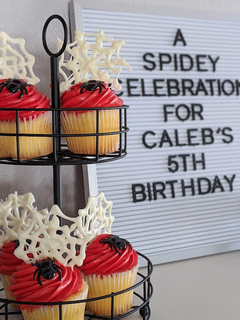 cupcake with diy spiderweb using white melting wafers