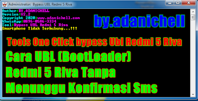 Tools One Click bypass Ubl Redmi 5 Riva