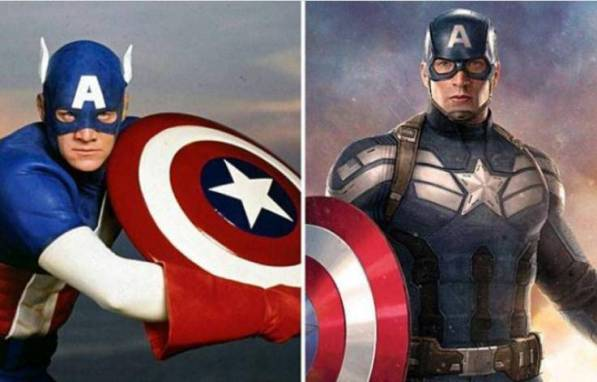 Perbedaan Kostum Captain Amerika jaman dulu dan sekarang