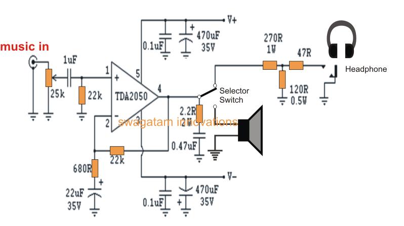 tda2050 amplifier circuit diagrams