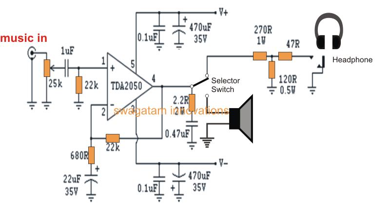 Tda2050 Amplifier Circuit Diagram DOC Download A3ZX