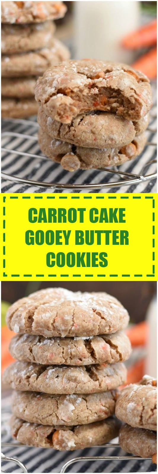 Carrot Cake Gooey Butter Cookies