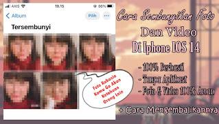 Cara Sembunyikan Foto dan Video Di Iphone IOS 14