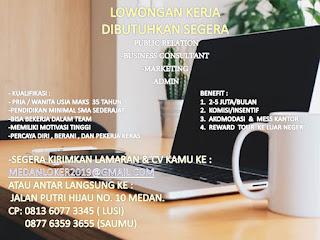 Lowongan Kerja Medan SMA Sedejarat Perusahaan Jasa Keuangan November 2019